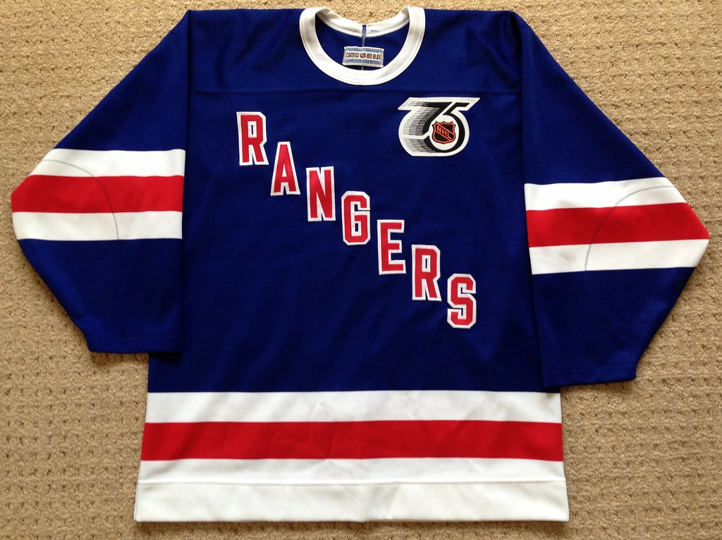 1991-92 New York Rangers TBTC Jersey Front