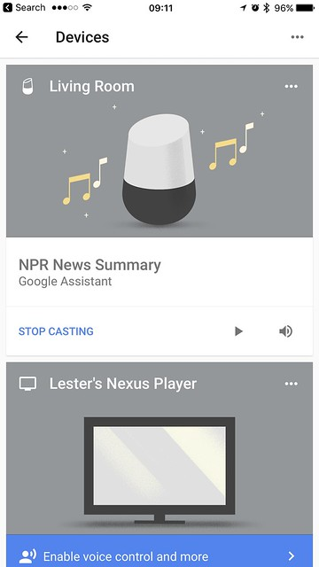 Google Home iOS App - Setup Done