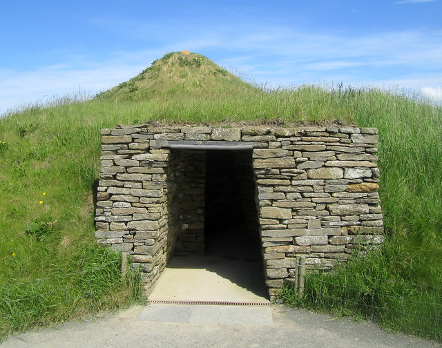 Entrance to Mock Skara Brae House