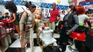 Rey and Jyn visit Boops