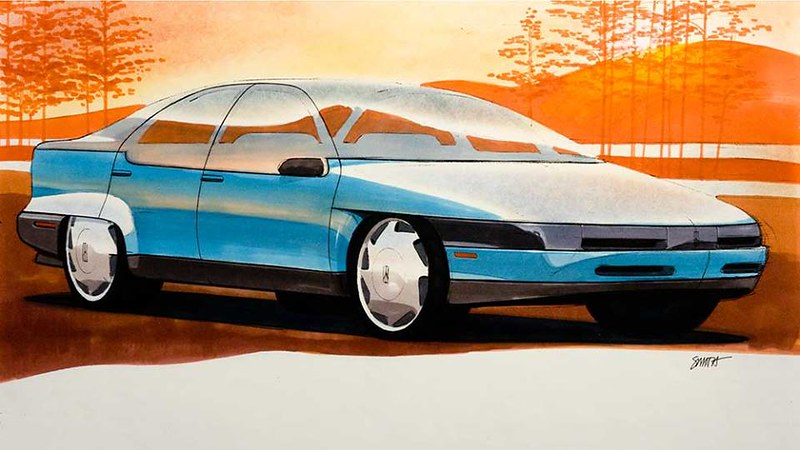 A study, likely, for the Olds Achieva sedan 1991-1997.