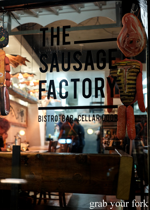 The Sausage Factory bistro bar and cellar door by Chrissy's Cuts in Dulwich Hill