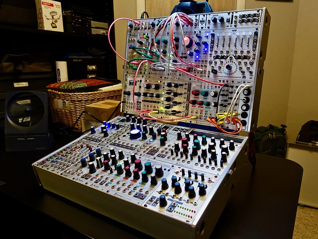 joined intellijel 7Ux84hp cases, minimal patch