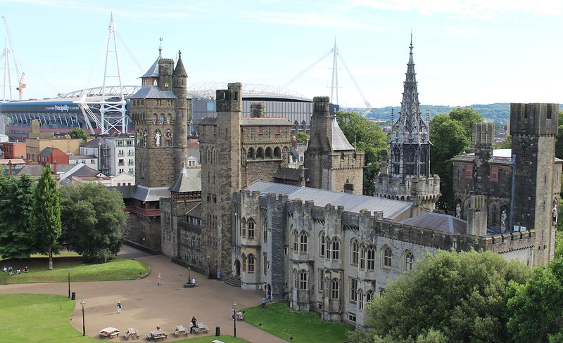 View from the top of Cardiff Castle