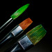 Three paintbrushes