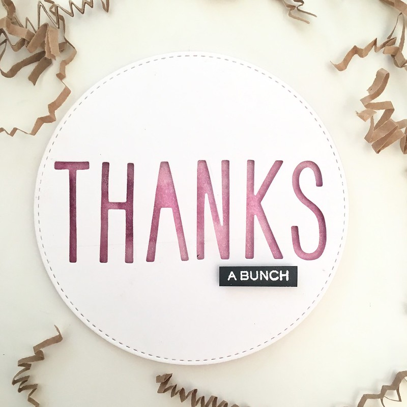 Circle thank you card