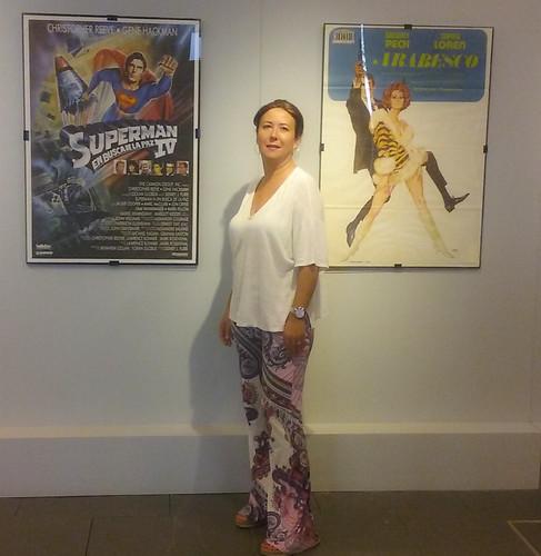 Exposición carteles de cine sobre galanes y divas