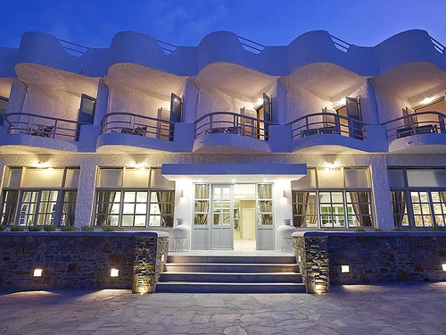 Hotel-Kythnos-rooms-premises-outdoors-exterior-design-stairs-night-lights-summer-summertime-Kythnos-Bay-Hotel-Kythnos-island-Cyclades | by medusarestautant