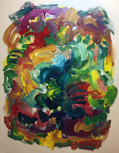 Susan Marx, Song in the Garden, 2017, 30x24, acrylic on canvas