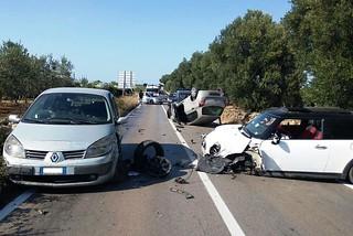 Noicattaro. Incidente Strada Provinciale Noicattaro-Casamassima front