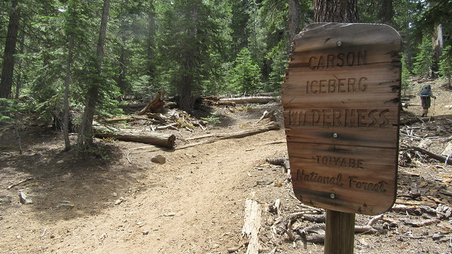 Backpacking to the Soda Cone in the Carson Iceberg Wilderness