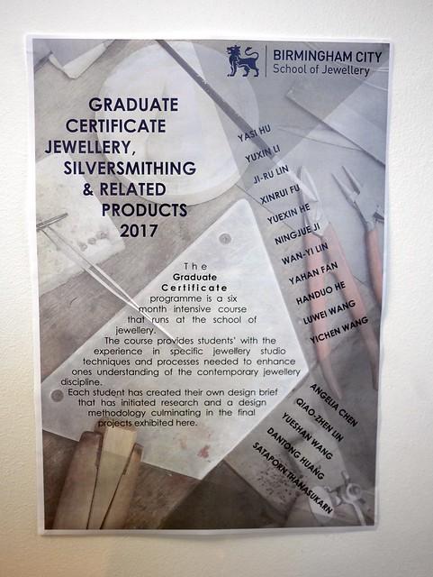Graduate Certificate Show - 2017 - 2