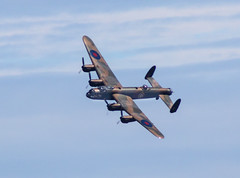 Lancaster bomber banking over Withernsea.