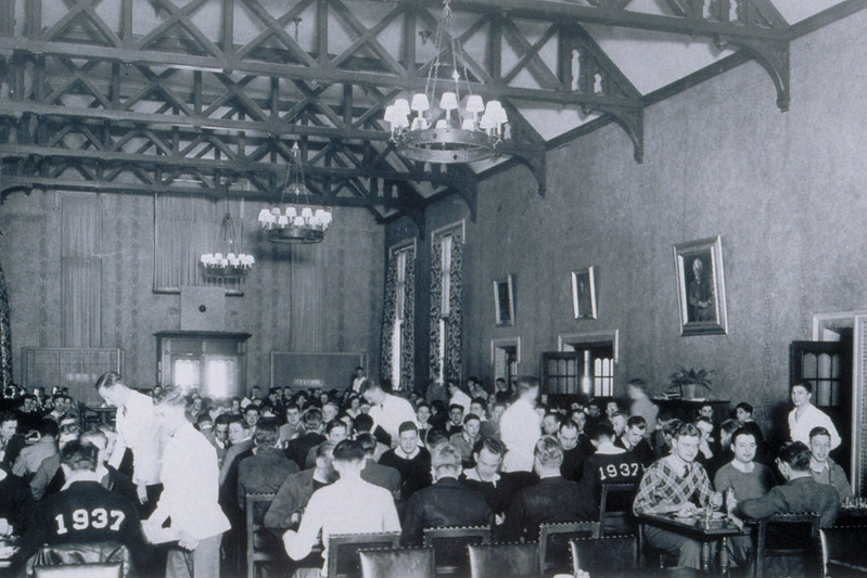 Dining Hall At Connecticut State College