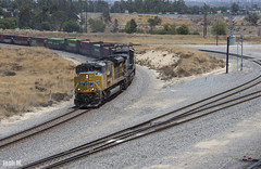 UP SD70ACe 8805 leads a Westbound Stacktrain through West Colton, CA