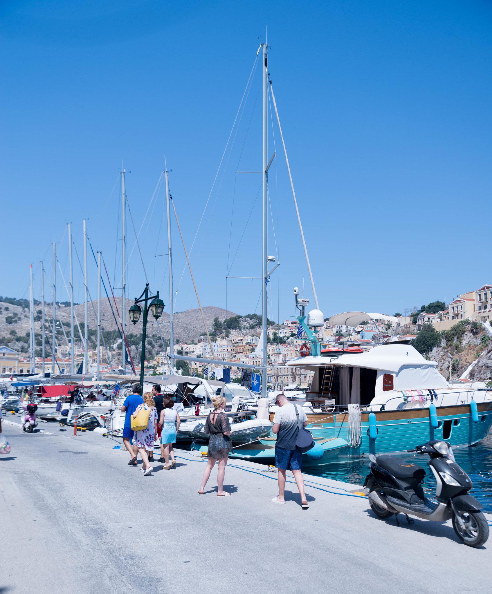 Symi Greece harbour