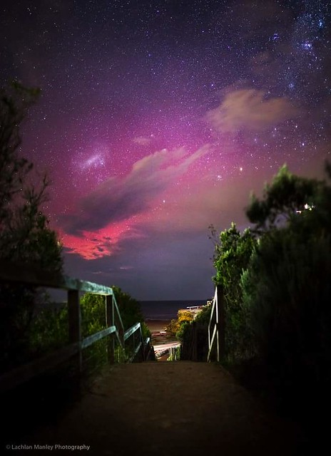 Southern Aurora From Point Lonsdale Beach