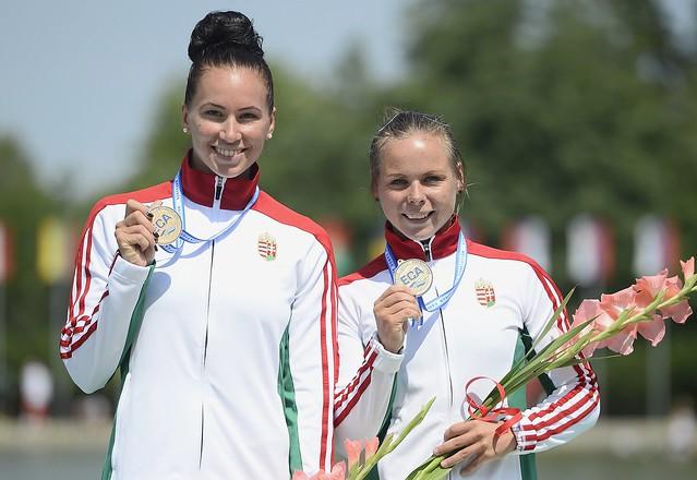Kajak-kenu Eb - Aranyérmes a női kajak kettes 1000 méteren