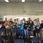 Thu, 07/27/2017 - 9:31am - Group shot with the morning master class at GWP in Oakville on Tuesday.  Master class, Emmett-style - kinda like doing a press conference with guitar junkies.