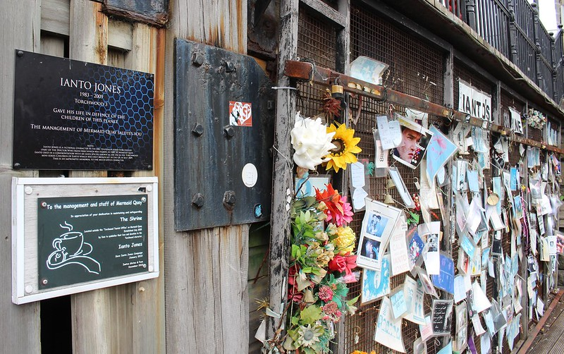 Cardiff Bay: Shrine to Torchwood character Ianto Jones