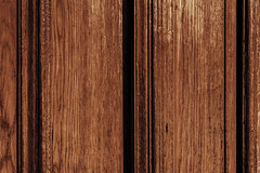 Close-up of a solid wood door