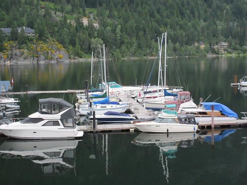 nelson bc british columbia canada kootenay lake boat