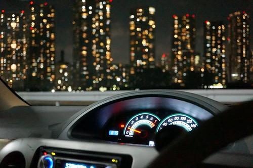 辰巳第1PAは有数の都内ドライブ夜景スポット