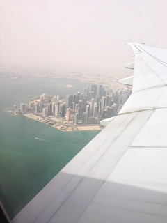 View of Doha from Qatar Airways 777-300ER (V2) DOH-AMS