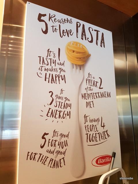 Barilla Restaurants pasta poster