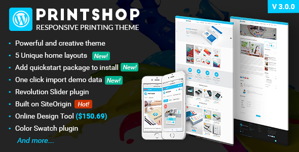 Printshop v3.1.1 – WordPress Responsive Printing Theme