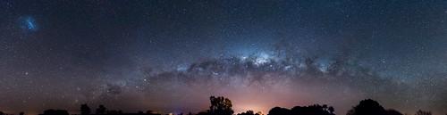 Panorámica de cielo nocturno