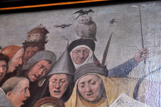 Lille, Palais des Beaux Arts, concert in an egg {in the style of Bosch}, detail