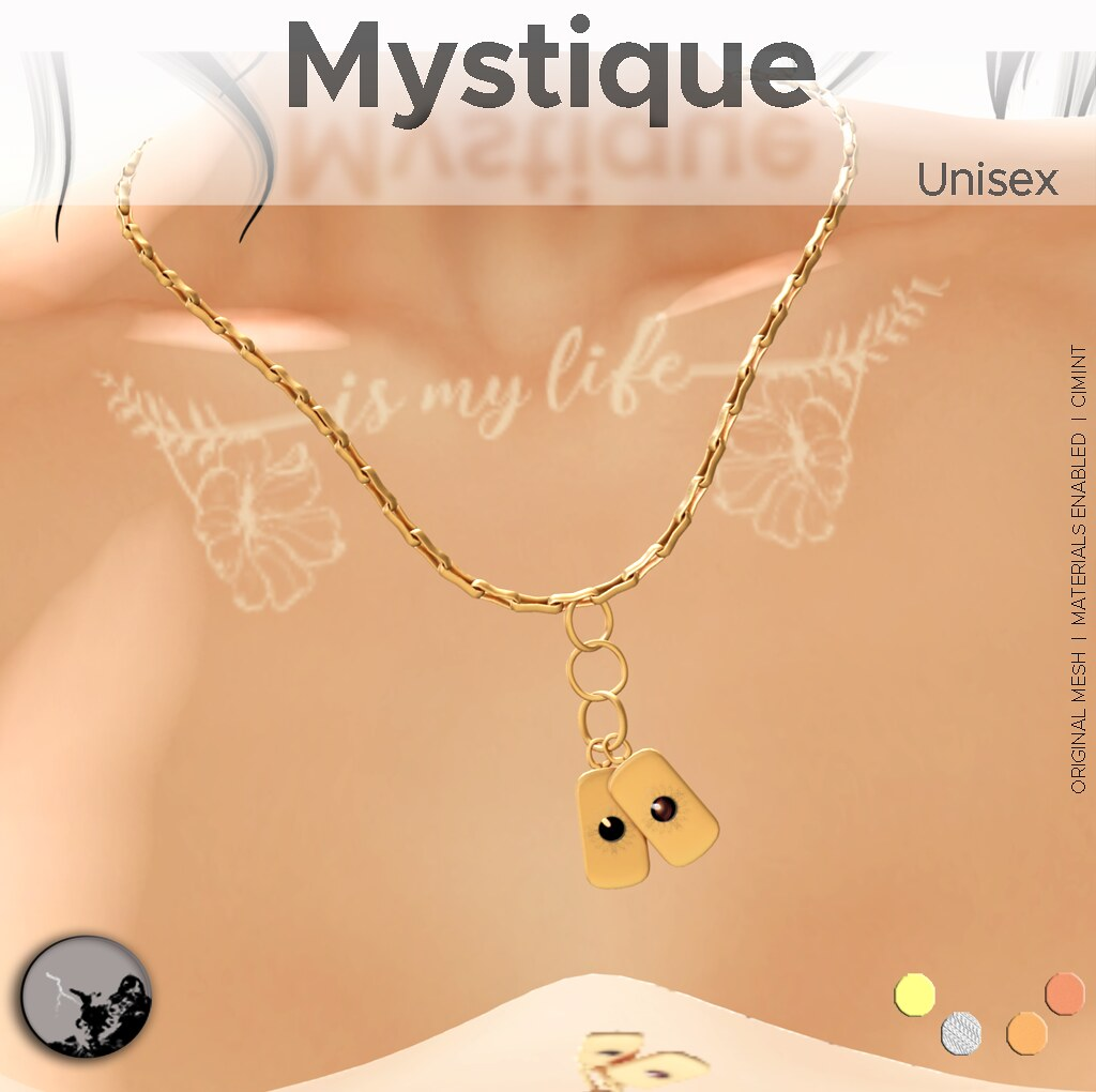Mystique - Tag Necklace - Unisex @ Willowvale event - SecondLifeHub.com