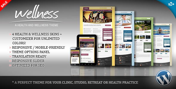 Wellness v2.0.1 – A Health & Wellness WordPress Theme