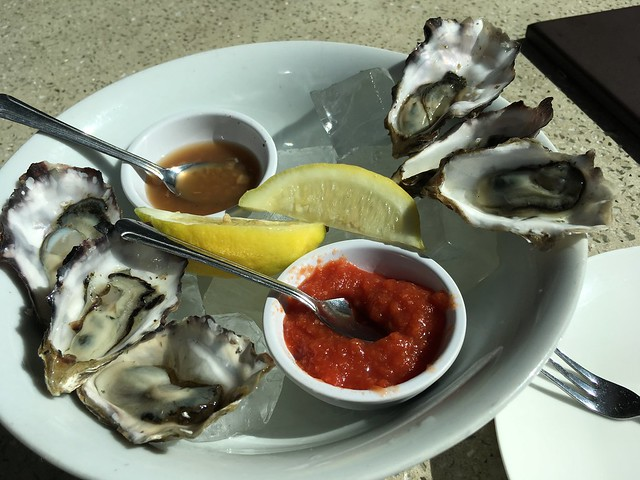 Oysters on the half shell - B Restaurant and Bar