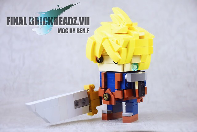 "This new brickheadz concept used Final Fantasy 7 (one of the famous RPG game in the PS1 century) ""Cloud"" as the character and created a theme called ""Final Brickheadz VII"" as a count down of my brickheadz development. Several audience requested a bigger s"
