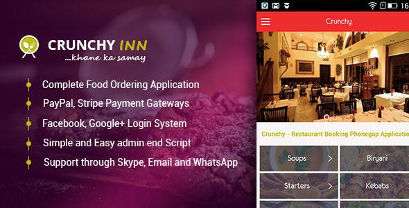Crunchy – Restaurant Booking Phonegap Application
