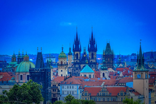 the towers of Prague