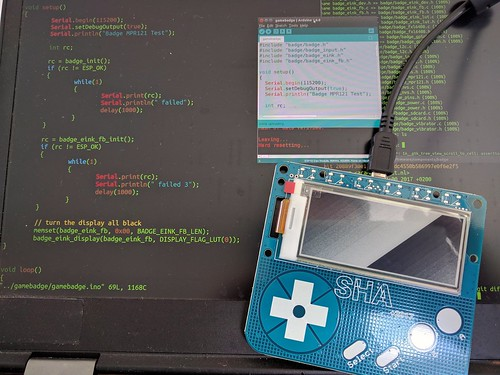 SHA badge working with Arduino