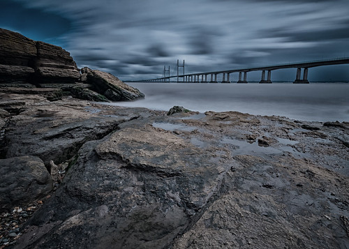 estuary coast landscape sudbrook rock bridge nikon longexposure river severn wales