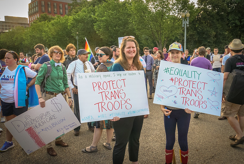 2017.07.26 Protest Trans Military Ban, White House, Washington DC USA 7624