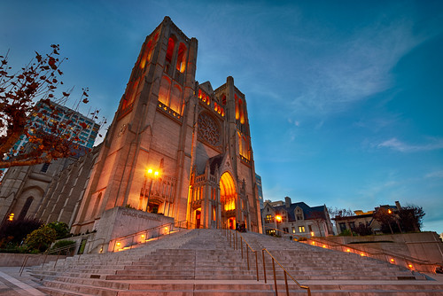Grace Cathedral at Dusk