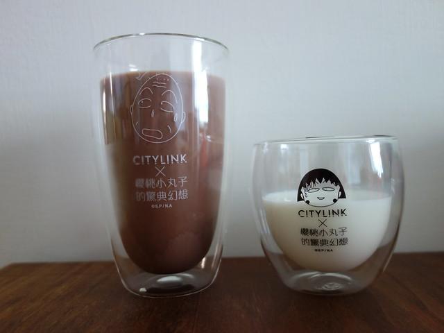 雙層玻璃杯,好好用喔@南港CITYLINK櫻桃小丸子的驚典幻想