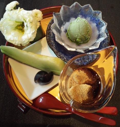 小倉山荘のデザート
