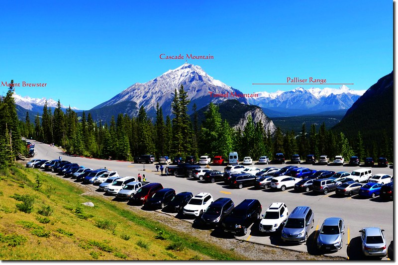 Northern view of the mountains from Banff Gondola parking lot 1