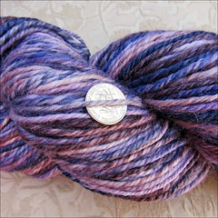 Ember Indigo Silk, close up