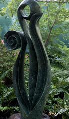 Itayi Mupumha, Unfurling, Opal Stone, Dallas Arboretum