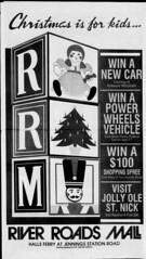 River Roads Mall christmas newspaper ad (1988)