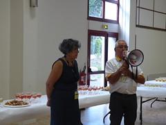 Mr Robin en compagnie de Mme Le Maire d'Oiron