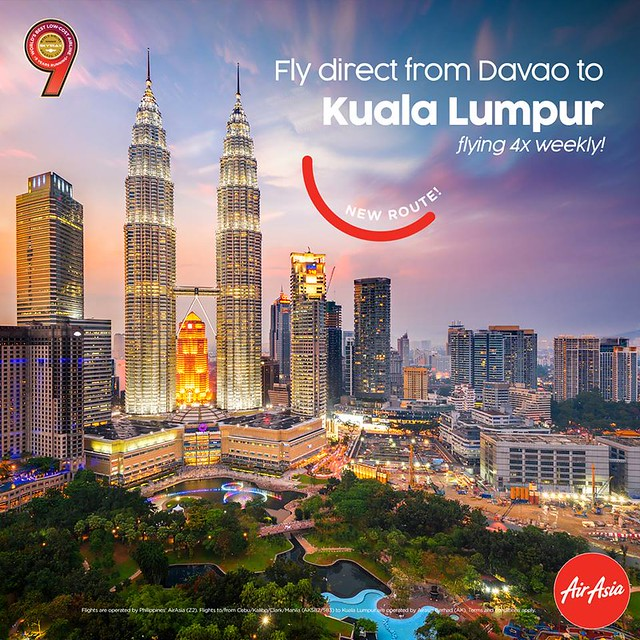 AirAsia New Route Davao to Kuala Lumpur